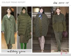 military green color trend