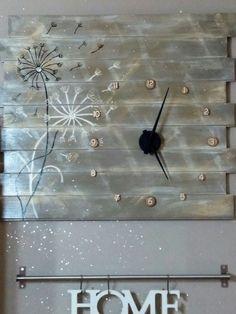 Orologio da cucina...Con perline di legno