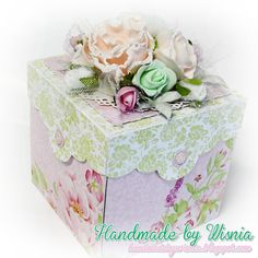 Hand made by Wisnia: 680. Exploding box w pastelach