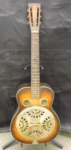 shopgoodwill.com: Vintage ca.1936 Dobro Round Neck Resonator Guitar