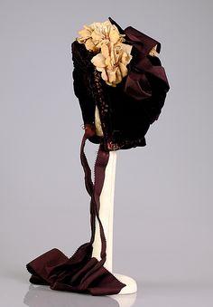 Bonnet Designer: Mme. Mantel (French) Date: ca. 1880 Culture: French Medium: Silk, cotton