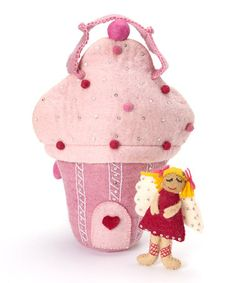 Take a look at this Felted Cupcake House Bag Set by Én Gry & Sif on #zulily today! $55 !!