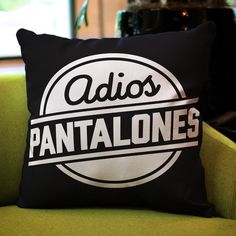 Adios Pantalones Throw Pillow #nopants #home #throwpillows