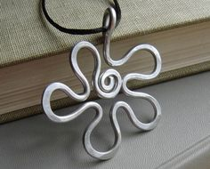 Big Aluminum Necklace  Groovy Flower Power by nicholasandfelice, $12.00