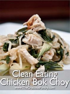 Chicken Bok Choy Might have to make this for the next family dinner