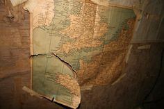 And there's an old map of Europe. You begin to wonder what exactly this space was for?   Students In Norway Discover Secret WWII Room In Their Attic