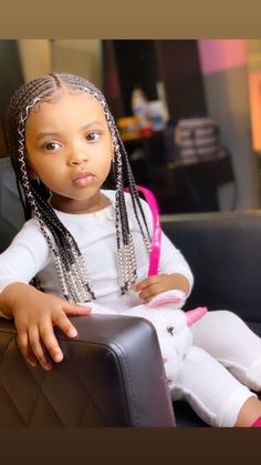 Casual Chic Fall Outfits Ideas To Copy Right Now 20 47 Sweet Daughter Hairstyles Ideas to Copy Now # Box Braids Hairstyles, Kids Braided Hairstyles, My Hairstyle, Hairstyle Ideas, Toddler Braids, Braids For Kids, Girls Braids, Toddler Hair, Braids Easy