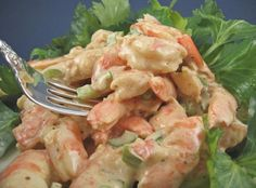 Being raised in Maryland my parents always used old bay seasoning on crabs & shrimp..........so why not in the shrimp salad.