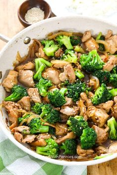 Chicken Broccoli Stir Fry can be served over rice or noodles, or even enjoy it on its own if you'd like! Tender chicken and broccoli are mixed with a delicious homemade stir fry sauce. Broccoli Fried Rice, Chicken Broccoli Stir Fry, Chicken Over Rice, Pre Cooked Chicken, How To Cook Chicken, Bbq Chicken, Healthy Chicken, Fried Chicken, Broccoli Recipes