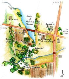 """I based my original, hand-drawn map of Avonlea on both the actual location of various places in Cavendish, and reconstructions found in The ..."