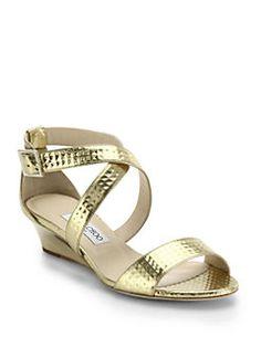28ecff8b9395e Ollio Womens Shoes Gladiator Flats Silver Beads Accent Wedge. lang tulafono  .addiction. Jimmy Choo Chiara Metallic Leather Wedge Sandals Leather Wedge  ...