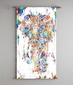 elephant wall art print poster painting home by ThestoryoftheFall