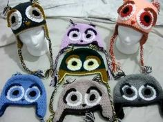 Crochet Owl hats 1