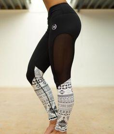NEU im Shop Body Engineers Athena Maori Legging Black www.fitnessfreakfashion.com #body #engineers #bodyengineers #fashion #mode #sport