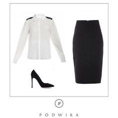Office look by Podwika #fashion #inspiration #podwika #podwikadress #business #businesswoman #officelook #office #blackandwhite