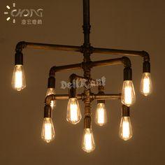 colgante led luz edison tubos de seda candelabros restaurante bar caf iluminacin creativa taiwan