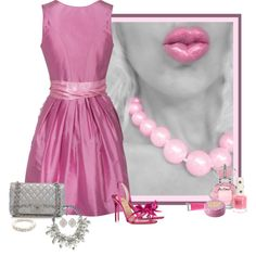 """""""Pop of Pink"""" by sherry7411 on Polyvore"""