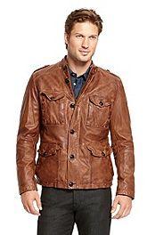 'Joaco' | Leather Patch Pocket Jacket #bossorange