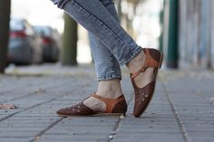 SALE 20% OFF Brown Leather Sandals Leather Flats by BangiShop