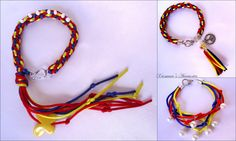 Kumihimo BRACELET (PULSERAS TRICOLOR) Hand Crafted by Xiomara's Accessories