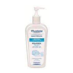 Mustela Stelatopia crema lavante 250 ml. Higiene cotidiana de las pieles secas con tendencia atópica, baño y ducha. cara, cuerpo y cabello. formulada para minimizar el riesgo de reacción alérgica.
