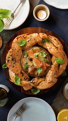 Winter Citrus Salmon Wreath ~ HOR is part of Seafood dishes - A wreath made of fish We know you're just gunna have to trust us on this one ; Salmon Recipes, Fish Recipes, Seafood Recipes, Dinner Recipes, Cooking Recipes, Healthy Recipes, Seafood Meals, Dinner Party Meals, Healthy Drinks