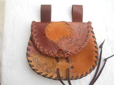 multi color  leather belt bag pouch by Syama on Etsy, $63.00