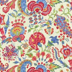 Williamsburg Home Décor Grand Palampore Jewel Fabric