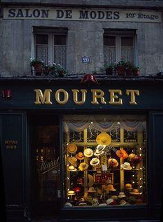Hat shop window. Rue Marchands, Avignon, Vaucluse, France