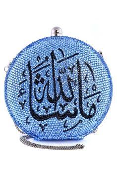 The Good Practice, Blue Masha'Allah Crystal Clutch