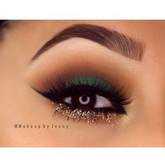 I like the combination of green , brown and gold for hazel and brown eyes I think this is gorgeous.