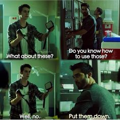 I'm 99% sure Derek was afraid for his life when Stiles picked those up.