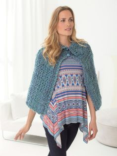 Lion Brand Yarn is America's oldest craft yarn company with active yarn families. Find your next project by searching free knitting and crochet patterns for afghans, hats, scarves and much more. Crochet Cape, Crochet Scarves, Crochet Clothes, Knit Crochet, Crochet Lion, Crochet Sweaters, Free Crochet, Crochet Style, Fingerless Gloves Crochet Pattern