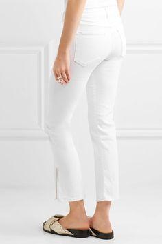 3x1 - W2 Split Bell Crop Mid-rise Straight-leg Jeans - White - 25