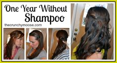 One Year Without Shampoo - The No Poo Method - The Crunchy Moose; Use baking soda and cider vinegar