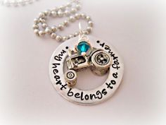 My Heart Belongs To A Farmer Stamped by DanielleJoyDesigns on Etsy, $33.00