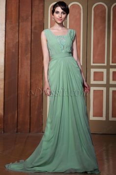 Elegant Light Green Sexy Open Back Evening Dress Formal Dress  #edressit #evening_dress #prom_dress #sleeveless #prom_dress #gown #new_arrival