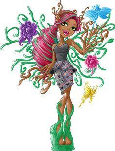 Treesa Thornwillow [A Tree Nymph] Arte Monster High, Monster High School, Monster High Birthday, Monster High Dolls, Cool Monsters, Famous Monsters, Personajes Monster High, Monster High Pictures, Favorite Cartoon Character