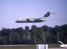 DC-9-15 N973Z making a flyby during the St. Louis County Fair and Airshow at Spirit of St. Louis Airport, August 1983. Photo by Robert A. Burgess, Greater St. Louis Air and Space Museum collection
