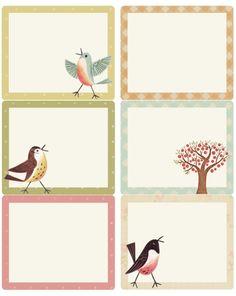 Sweet Birds address, shipping & round labels | Worldlabel Blog