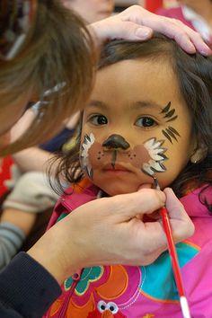Face-art,Aqua-makeup, face Painting for kids Lion Face Paint Easy, Monkey Face Paint, Bear Face Paint, Kids Makeup, Makeup Ideas, Makeup Tutorials, Face Painting Designs, Body Painting, Puppy Party