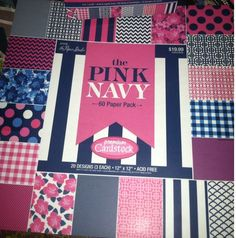 Pink and navy scrapbook paper for easy birthday banner.