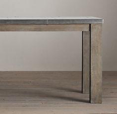 Railroad Tie Parsons Rectangular Table | RH