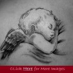 Baby angel tattoo designs for women