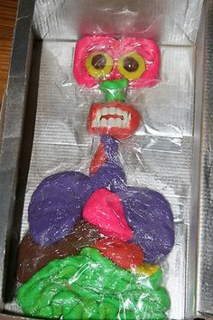 playdough anatomy lesson a little strange looking. :)