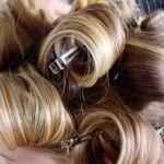Hair set in pincurls