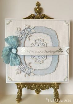 Good Morning Everyone As promised, here is the reveal of my new Cosmic Shimmer Colour which is,. Frosty Sky :-) This is a really. Christmas Greetings, Christmas Cards, Christmas Ideas, Create And Craft Tv, Cosmic, Decorative Boxes, Card Making, Greeting Cards, Sky