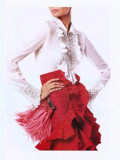2002. Valentino Spring Ready-to-Wear. Model Caroline Ribeiro. Photo by Steven Meisel