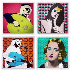 Instagram media by classic_art_ - تم توفير لوحة محمد عبده وعبادي الجوهر و لانا ديل راي و طلال مداح  في محل @uniquegift2010 - الرياض حي الورود