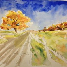 #watercolor #artstudent #art learning from the master @davidlobenberg
